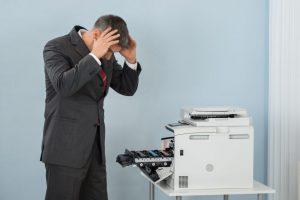 Disperazione stampante